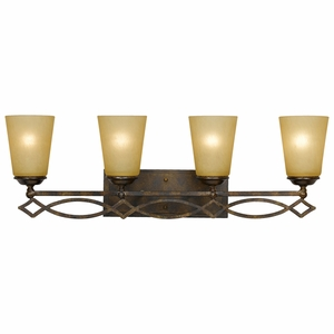 Scarlet Collection Classy Styled 4 Lights Vanity Lighting in Bronze with Gold trim by Yosemite Home Decor