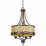 Scarlet Collection Classy Styled Beautiful 4 Lights Chandelier in Golden Dew by Yosemite Home Decor