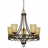 Scarlet Collection Fascinating Stylized 5 Lights Chandelier in Golden Dew by Yosemite Home Decor