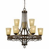Scarlet Collection Wonderful Styled 9 Lights Chandelier in Golden Dew by Yosemite Home Decor