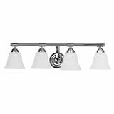 Scintillating 4 Light Vanity Lighting in Chrome Frame by Yosemite Home Decor