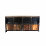 Scintillating Metal/Wood Storage Console Table by Yosemite Home Decor