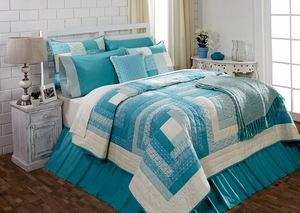 """Sea Glass Luxury Sham Quilted 21"""" x 27"""" by VHC Brands"""
