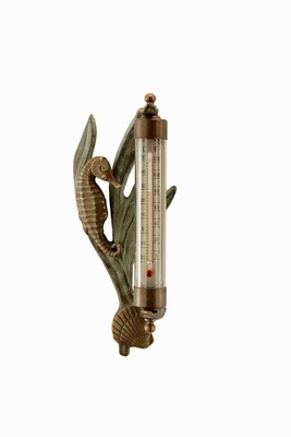 Seahorse Wall Mounted Thermometer With Coastal Decor Flavor Brand SPI-HOME