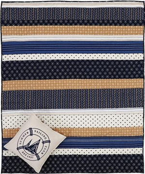 Seapoint Hand Quilted Throw with 2 inches Rod Pocket Brand VHC