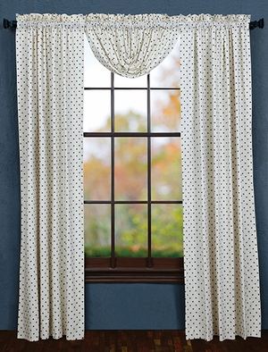 """Seapoint Panel Set of 2 Lined L84xW40"""" Brand VHC"""