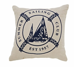 "Seapoint Pillow Stencil 10x10"" Brand VHC"