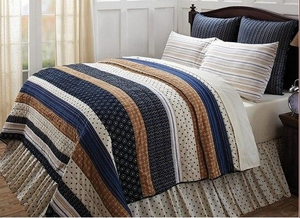 Seapoint Queen Quilt in Multicolored Rustic Design and Polka Dots Brand VHC
