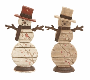 Season Tradition Snowman figurines 2 Assorted Holiday Decor