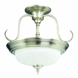 Semi-flush Mount Lighting Series Attractively Styled 2 Lights in Satin Nickel Finish by Yosemite Home Decor