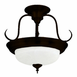 Semi-flush Mount Lighting Series Mesmerizing 2 Lights in Dark Brown by Yosemite Home Decor