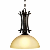 Sentinel Collection Attractive 1 Light Pendant Lighting in Venetian Bronze by Yosemite Home Decor