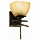 Sentinel Collection Attractive 1 Light Vanity Lighting in Venetian Bronze Frame by Yosemite Home Decor