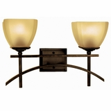 Sentinel Collection Attractive 2 Lights Vanity Lighting in Venetian Bronze Frame by Yosemite Home Decor