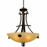 Sentinel Collection Attractive 4 Lights Pendant Lighting in Venetian Bronze by Yosemite Home Decor