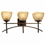 Sentinel Collection Classy Styled 3 Light Vanity Lighting in Venetian Bronze by Yosemite Home Decor