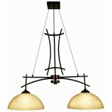 Sentinel Collection Stylized 2 Lights Island Light series in Venetian Bronze by Yosemite Home Decor