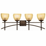 Sentinel Collection Stylized 4 Lights Vanity Lighting in Venetian Bronze Frame by Yosemite Home Decor