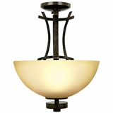 Sentinel Lighting Collection Classy 3 Light Flush Mount series in Venetian Bronze by Yosemite Home Decor