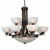 Sequoia Collection Adorably Styled 13 Light Chandelier in Dark Brown by Yosemite Home Decor