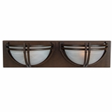 Sequoia Collection Beautiful 2 Lights Vanity Lighting in Dark Brown Frame by Yosemite Home Decor
