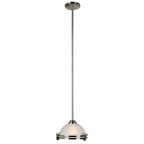 Sequoia Collection Chic Looking 1 Light Mini Pendant in Satin Nickel