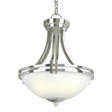 Sequoia Collection Enchanting 2 Lights Pendant Lighting in Satin Nickel Finish by Yosemite Home Decor