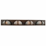 Sequoia Collection Enchanting 4 Lights Vanity Lighting in Dark Brown Frame by Yosemite Home Decor