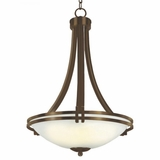Sequoia Collection Fabulous 3 Light Pendant Lighting in Brown by Yosemite Home Decor