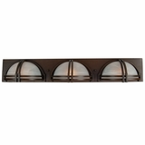 Sequoia Collection Fantabulous 3 Light Vanity Lighting in Dark Brown Frame by Yosemite Home Decor