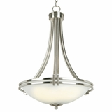 Sequoia Collection Fascinating 3 Light Pendant Lighting in Satin Nickel Finish by Yosemite Home Decor