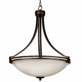 Sequoia Collection Gorgeous 4 Lights Pendant Lightingin Brown by Yosemite Home Decor