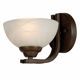 Sequoia Collection Marvellously Styled 1 Light Wall sconce in Brown by Yosemite Home Decor