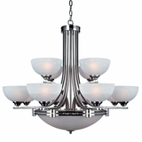 Sequoia Collection Marvelously Styled 13 Light Chandelier in Satin Nickel Finish by Yosemite Home Decor