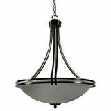 Sequoia Collection Ravishing 4 Lights Pendant Lighting in Satin Nickel Finish by Yosemite Home Decor