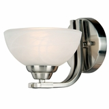 Sequoia Collection Scintillating 1 Light Wall sconce in Satin Nickel Finish by Yosemite Home Decor