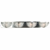 Sequoia Collection Striking 4 Lights Vanity Lighting in Satin Nickel Finish Frame by Yosemite Home Decor