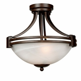 Sequoia Lighting Collection Attractive 2 Lights Pendant series in Dark Brown by Yosemite Home Decor