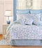 Serendipity Blue Cotton  Quilt Luxury Os King  Bedding Ensembles Brand C&F