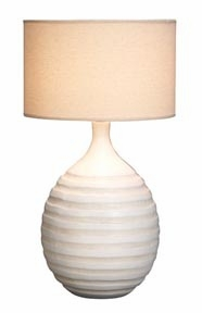 "Set/2 Designer Round Table Lamps 22"" Ivory Color Shade Brand Woodland"