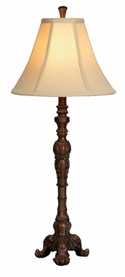 "Set/2 Florence Table Lamps 32"" Ivory Color Shade Brand Woodland"
