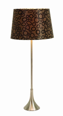 "Set/2 Galaxy Table Lamps With Brown Shade 26"" Brand Woodland"