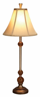 "Set/2 Impression Table Lamps 29"" Ivory Color Shades Brand Woodland"