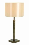 "Set/2 Metal Arm Table Lamps With Ivory Color Shade 25"" Brand Woodland"