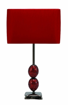 "Mosaic Table Lamps With Red Shade 24"" Brand Woodland"