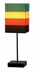"""Set/2 Rainbow Short Metal Table Lamps 18"""" With Shade Brand Woodland"""
