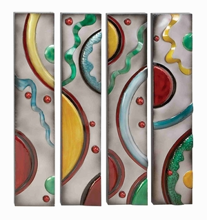 Set/4 Color Fusion Metal Wall Decor Sculpture Brand Woodland