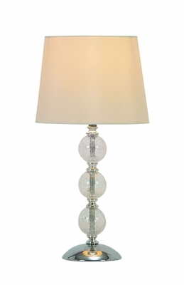 "Set/4 Metal Glass Table Lamps With White Shades 15"" Brand Woodland"