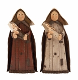 """Set of 2 Polystone Virgin Mary Figurines Assorted 16""""H, 8""""W by Woodland Import"""