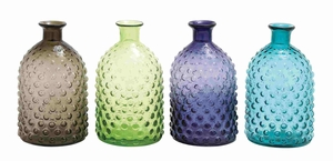 Set of Four Unique Pattern Assorted Glass Vase Brand Benzara
